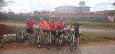 Jim Ball  Cycling on the Burma - Classic tour with redspokes